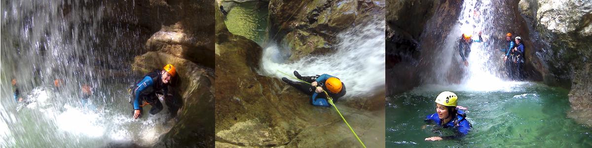 canyoning aux Ecouges proche de Grenoble lyon valence
